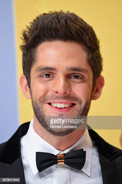 Singersongwriter Thomas Rhett attends the 50th annual CMA Awards at the Bridgestone Arena on November 2 2016 in Nashville Tennessee