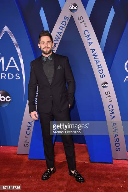 Singersongwriter Thomas Rhett attends the 51st annual CMA Awards at the Bridgestone Arena on November 8 2017 in Nashville Tennessee
