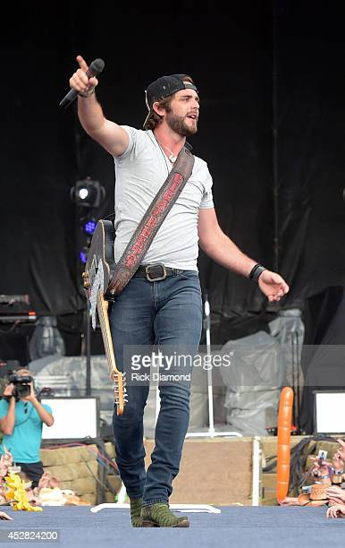 Singer/Songwriter Thomas Rhett performs at Country Thunder USA Day 4 on July 27 2014 in Twin Lakes Wisconsin