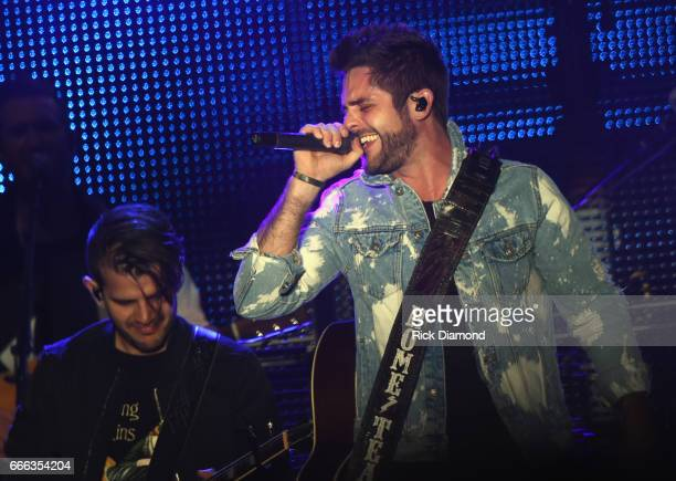 Singer/Songwriter Thomas Rhett performs on Day 3 Country Thunder Music Festival Arizona April 8 2017 in Florence Arizona