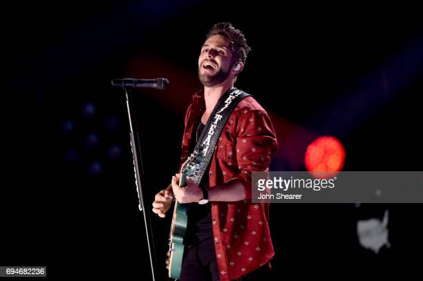 Singer-songwriter Thomas Rhett performs onstage of day 3 at the 2017 CMA Music Festival on June 10, 2017 in Nashville, Tennessee.