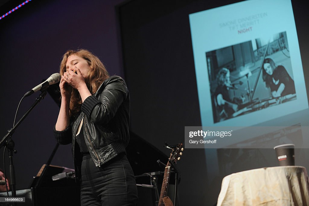 Singer-songwriter Tift Merritt performs live at Meet the Musicians at the Apple Store Soho on March 29, 2013 in New York City.