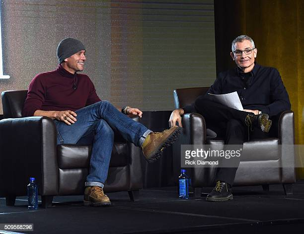 Singer/Songwriter Tim McGraw and RJ Curtis attend CRS 2016 Day 3 at The Omni Hotel on February 10 2016 in Nashville Tennessee