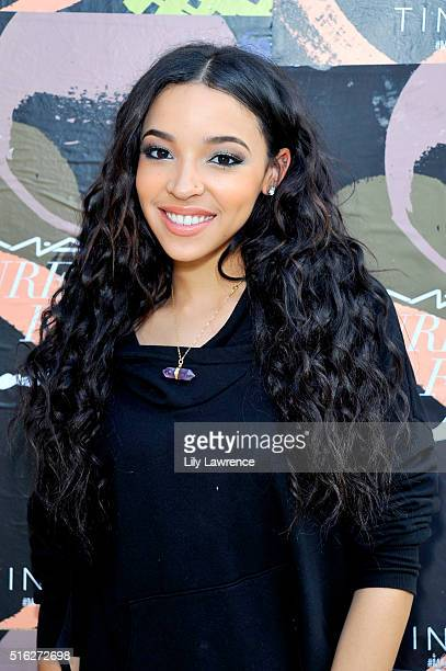 Singer/songwriter Tinashe attends the MAC Cosmetics SXSW Party Performance with Tinashe at Palazzo Lavaca on March 17 2016 in Austin Texas