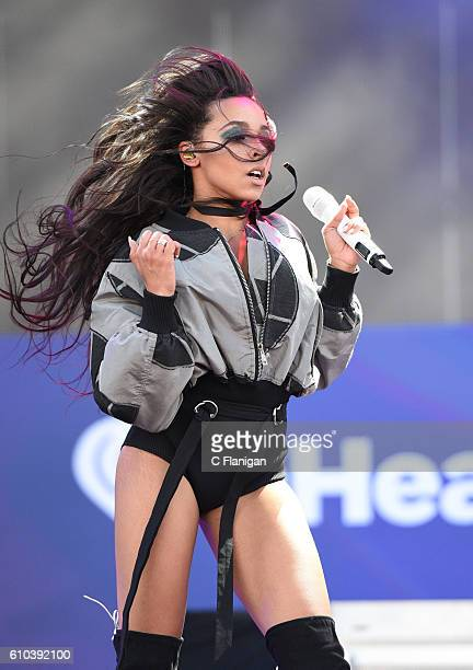 Singer/songwriter Tinashe performs during the 2016 Daytime Village at the iHeartRadio Music Festival at the Las Vegas Village on September 24 2016 in...