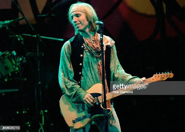 Singer/Songwriter Tom Petty of Tom Petty and The Heartbreakers perform at Lakewood Amphitheater in Atlanta Georgia April 15 1995
