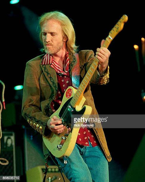 Singer/Songwriter Tom Petty of Tom Petty and The Heartbreakers perform at Lakewood Amphitheater in Atlanta Georgia November 19 1991