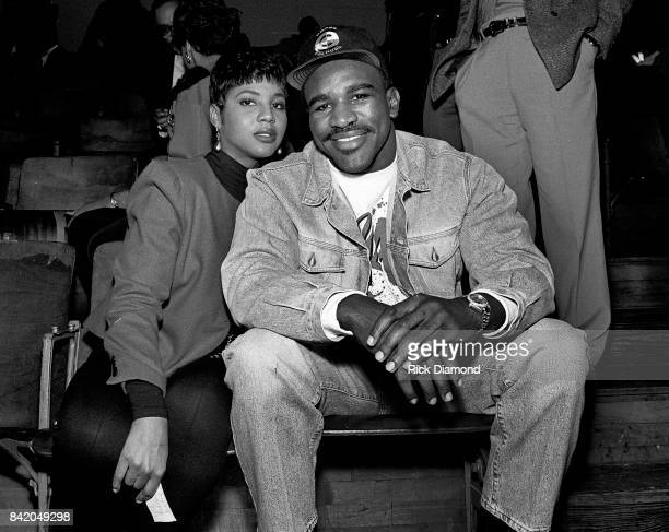Singer/Songwriter Toni Braxton and Heavy Weight Champion Evander Holyfield attend LaFace holiday party for families with kids in Atlanta Georgia...