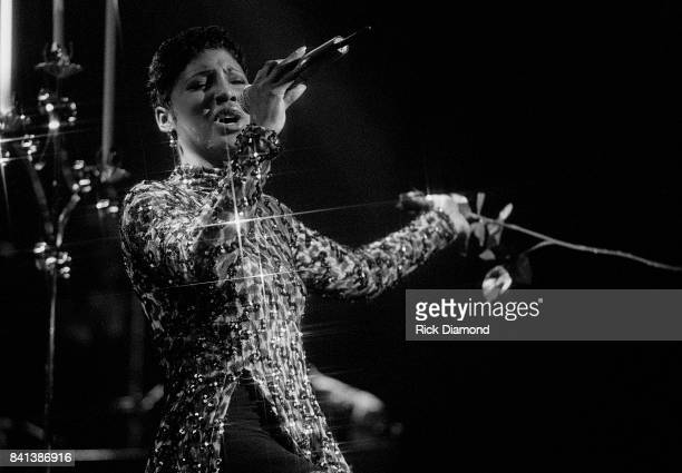 Singer/Songwriter Toni Braxton performs during LaFace Records platinum celebrates party in Atlanta Georgia. October 14, 1993