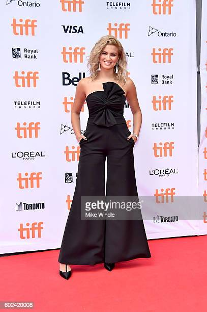 Singer/songwriter Tori Kelly attends the 'Sing' premiere during the 2016 Toronto International Film Festival at Princess of Wales Theatre on...