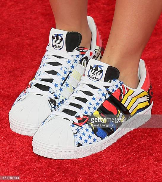 Singer/songwriter Tori Kelly shoe detail attends the 2015 Radio Disney Music Awards at Nokia Theatre LA Live on April 25 2015 in Los Angeles...