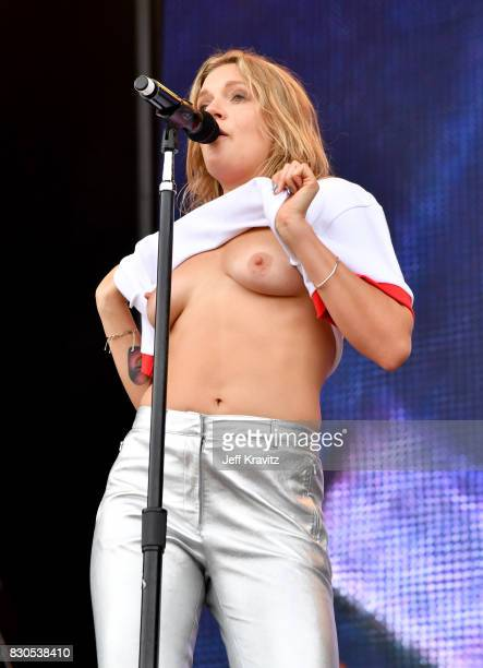 Singer/songwriter Tove Lo performs on the Lands End Stage during the 2017 Outside Lands Music And Arts Festival at Golden Gate Park on August 11 2017...
