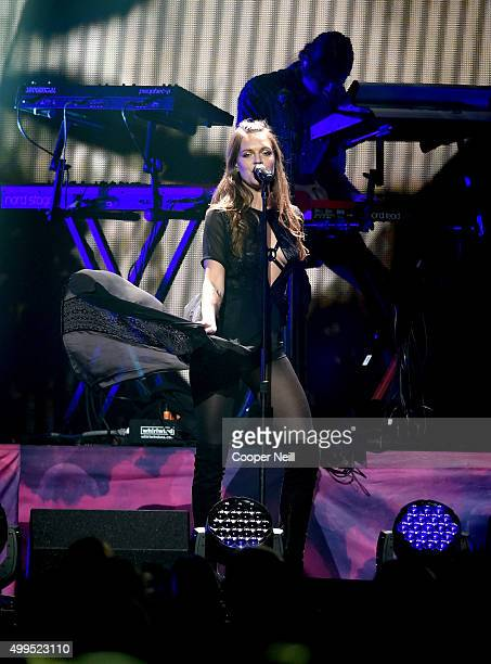 Singer/songwriter Tove Lo performs onstage during 106.1 KISS FM's Jingle Ball 2015 presented by Capital One at American Airlines Center on December...