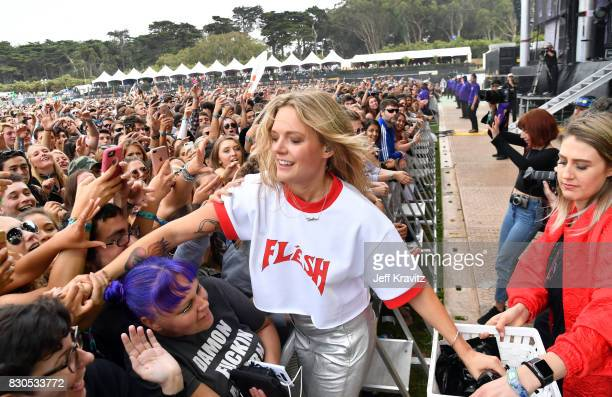 Singer/songwriter Tove Lo performs onstage during the 2017 Outside Lands Music And Arts Festival at Golden Gate Park on August 11 2017 in San...