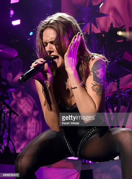 Singer/songwriter Tove Lo performs onstage during WiLD 949's FM's Jingle Ball 2015 presented by Capital One at ORACLE Arena on December 3 2015 in...