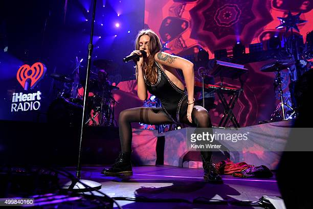 Singer/songwriter Tove Lo performs onstage during WiLD 94.9's FM's Jingle Ball 2015 presented by Capital One at ORACLE Arena on December 3, 2015 in...