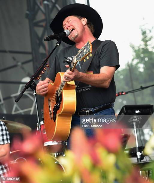 Singer/Songwriter Tracy Lawrence performs during Country Thunder In Twin Lakes Wisconsin Day 4 on July 23 2017 in Twin Lakes Wisconsin