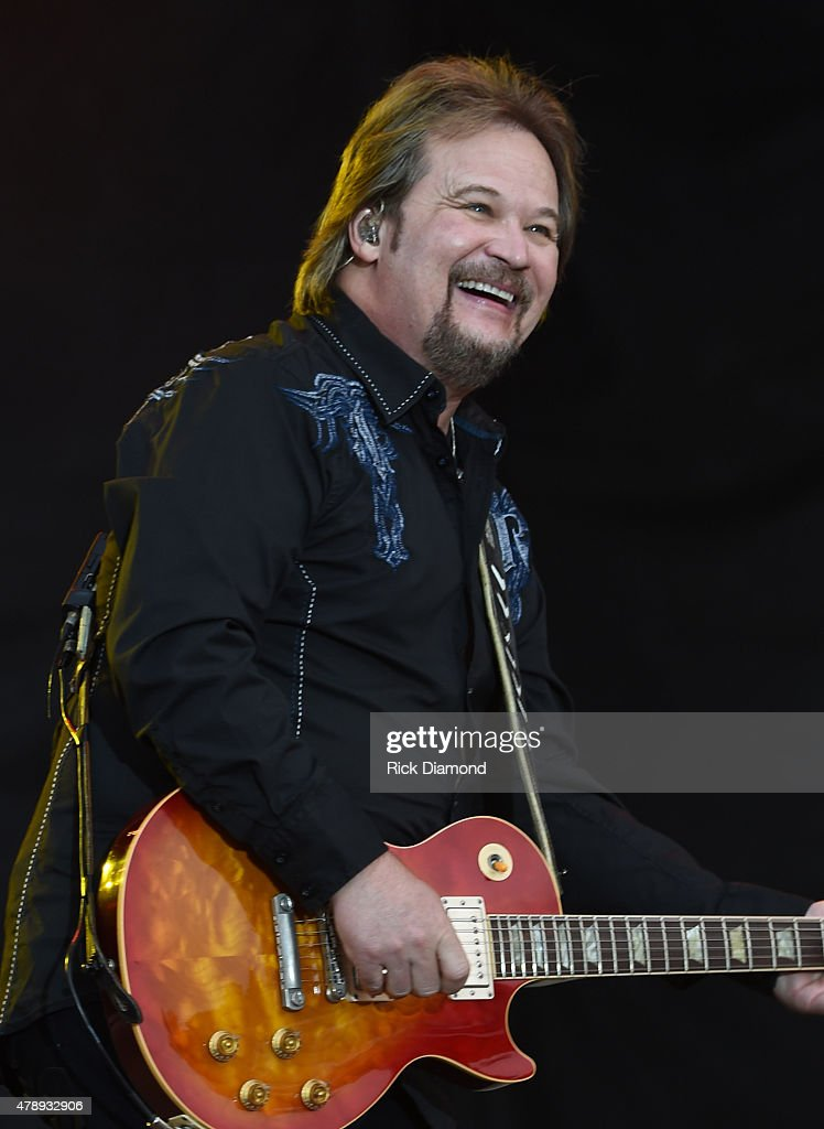 Singer/Songwriter Travis Tritt performs during the 20th. Anniversaty of Kicker Country Stampede Manhattan, Kansas - Day 4 on June 28, 2015 at Tuttle Creek State Park in Manhattan, Kansas.