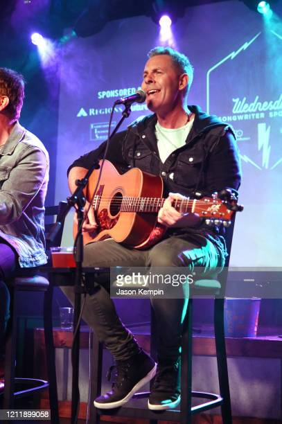 Singer/songwriter Trevor Rosen performs at Live Oak on March 11 2020 in Nashville Tennessee