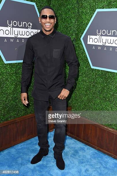Singersongwriter Trey Songz attends the 2014 Young Hollywood Awards brought to you by Mr Pink held at The Wiltern on July 27 2014 in Los Angeles...