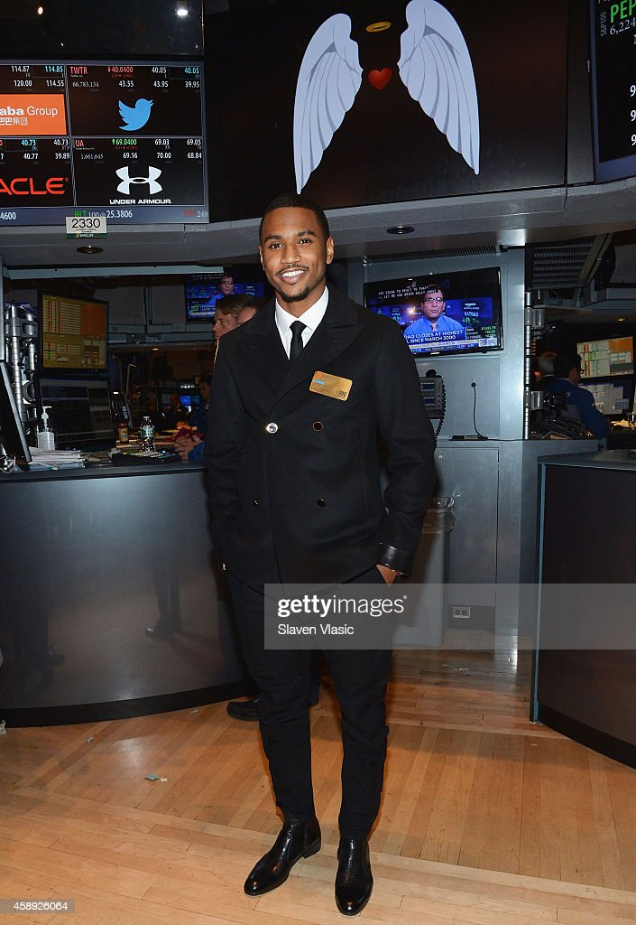 Trey Songz Rings The NYSE Closing Bell