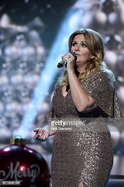 Singersongwriter Trisha Yearwood performs on stage during the CMA 2016 Country Christmas on November 8 2016 in Nashville Tennessee