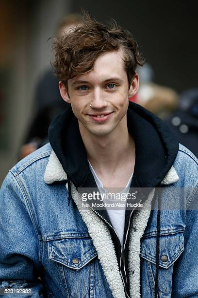 Singersongwriter Troye Sivan seen leaving the BBC Radio 1 Studios Portland place on April 22 2016 in London England