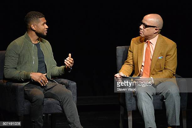 Singer/songwriter Usher and Darren Walker President Ford Foundation attend the 2016 Tina Brown Live Media's American Justice Summit at Gerald W Lynch...
