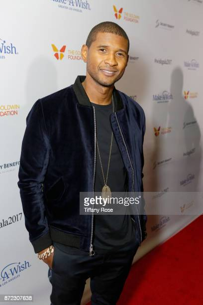 Singer-songwriter Usher at the 2017 Make a Wish Gala on November 9, 2017 in Los Angeles, California.