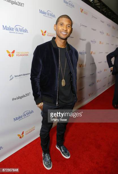 Singersongwriter Usher at the 2017 Make a Wish Gala on November 9 2017 in Los Angeles California