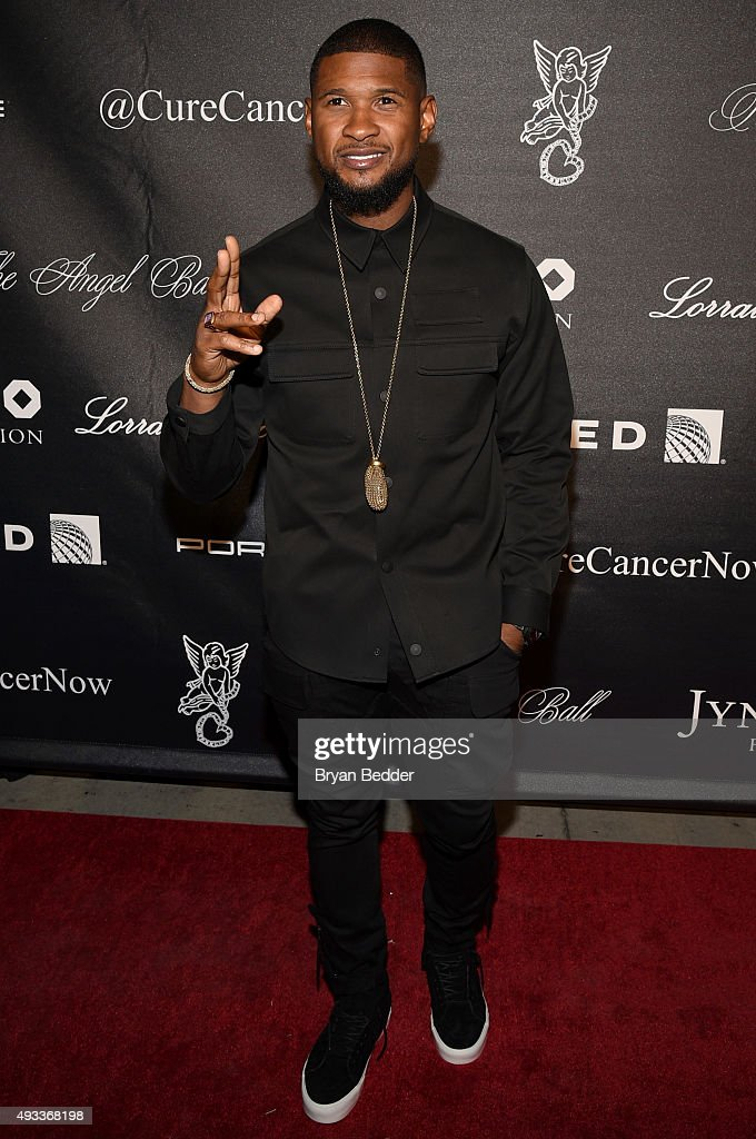 Singer-songwriter Usher attends Angel Ball 2015 hosted by Gabrielle's Angel Foundation at Cipriani Wall Street on October 19, 2015 in New York City.