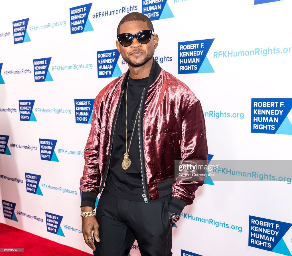 Singer-songwriter Usher attends Robert F. Kennedy Human Rights Hosts Annual Ripple Of Hope Awards Dinner at New York Hilton on December 13, 2017 in New York City.