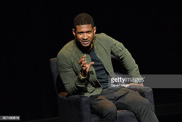 """Singer/songwriter Usher attends the 2016 """"Tina Brown Live Media's American Justice Summit"""" at Gerald W. Lynch Theatre on January 29, 2016 in New York..."""