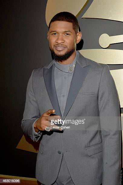 Singersongwriter Usher attends The 57th Annual GRAMMY Awards at the STAPLES Center on February 8 2015 in Los Angeles California