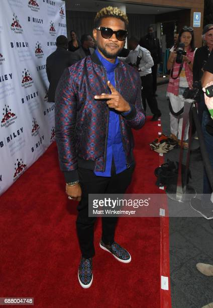 Singer/songwriter Usher attends the B Riley Co 8th Annual 'Big Fighters Big Cause' Charity Boxing Night benefiting the Sugar Ray Leonard Foundation...