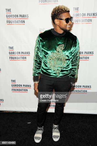 Singersongwriter Usher attends the Gordon Parks Foundation Awards Dinner Auction at Cipriani 42nd Street on June 6 2017 in New York City