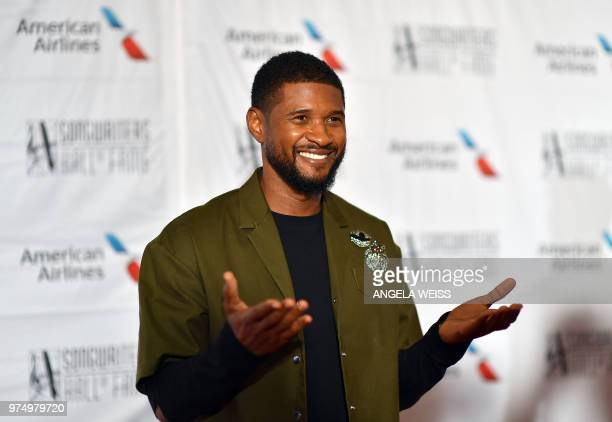 US singer/songwriter Usher attends the Songwriters Hall of Fame 49th Annual Induction and Awards Dinner at New York Marriott Marquis Hotel on June 14...