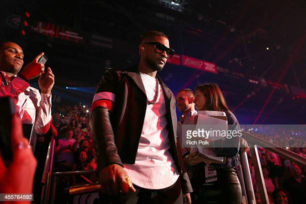 Singer/songwriter Usher performs onstage during the 2014 iHeartRadio Music Festival at the MGM Grand Garden Arena on September 19, 2014 in Las Vegas,...