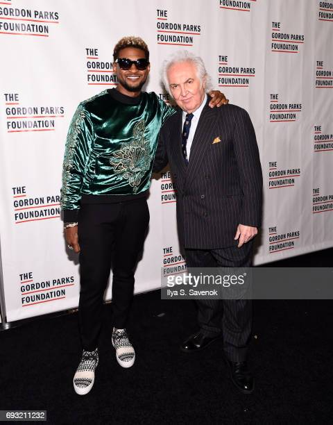 Singersongwriter Usher Raymond IV and art dealer Tony Shafrazi attend the 2017 Gordon Parks Foundation Awards Gala at Cipriani 42nd Street on June 6...
