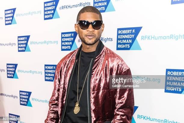 Singer-songwriter Usher Raymond IV attends Robert F. Kennedy Human Rights Hosts Annual Ripple Of Hope Awards Dinner at New York Hilton on December...