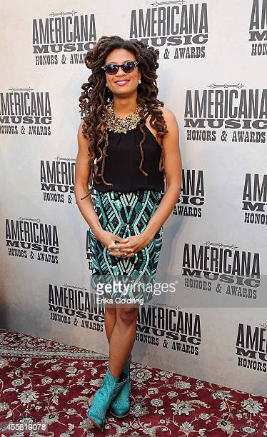 Singersongwriter Valerie June attends the 13th annual Americana Music Association Honors and Awards Show at the Ryman Auditorium on September 17 2014...