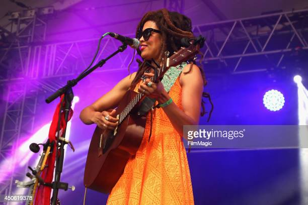 Singersongwriter Valerie June performs onstage at This Tent during day 3 of the 2014 Bonnaroo Arts And Music Festival on June 14 2014 in Manchester...