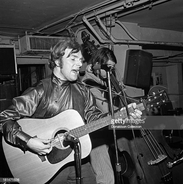 Singer/songwriter Van Morrison performs at a Warner Brothers party at Steve Paul's The Scene nightclub on January 27 1969 in New York New York