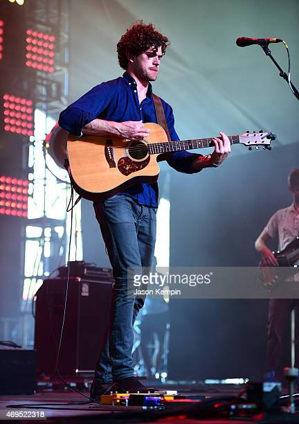 Singersongwriter Vance Joy performs onstage during day 3 of the 2015 Coachella Valley Music Arts Festival at the Empire Polo Club on April 12 2015 in...