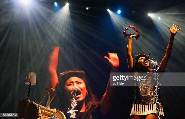 Singer/songwriter VV Brown performs live on stage during the opening night of a series of concerts and events in aid of Teenage Cancer Trust...