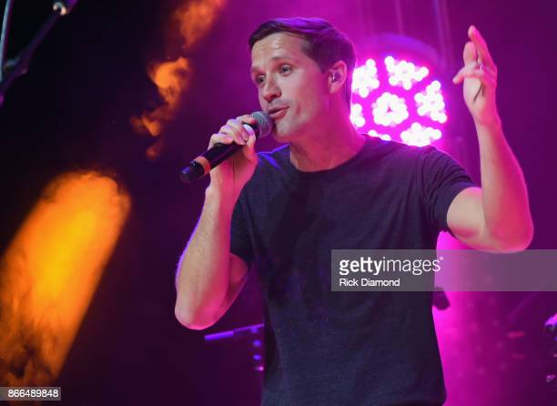Singer/Songwriter Walker Hayes performs at the 5th Annual Battle For The Bones at Wildhorse Saloon on October 25 2017 in Nashville Tennessee