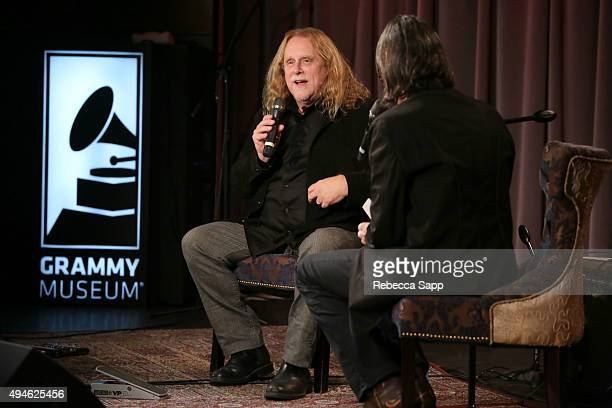 Singer/songwriter Warren Haynes speaks with Vice President of the GRAMMY Foundation Scott Goldman at An Evening With Warren Haynes at The GRAMMY...