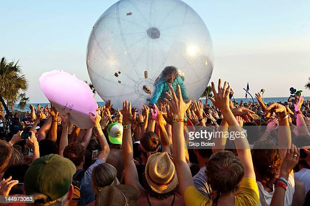 Singersongwriter Wayne Coyne of The Flaming Lips performs during the 2012 Hangout Music Festival on May 20 2012 in Gulf Shores Alabama