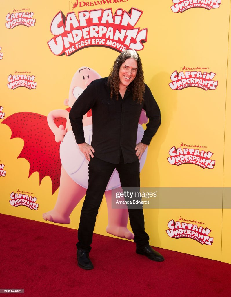 Singer-songwriter 'Weird Al' Yancovic arrives at the premiere of 20th Century Fox's 'Captain Underpants: The First Epic Movie' at the Regency Village Theatre on May 21, 2017 in Westwood, California.