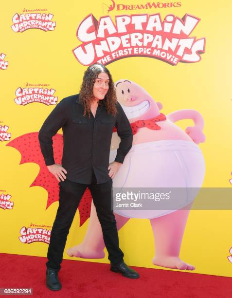 Singersongwriter 'Weird Al' Yancovic attends the Premiere Of 20th Century Fox's 'Captain Underpants The First Epic Movie' at Regency Village Theatre...